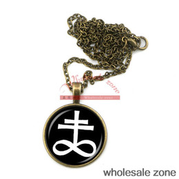 Wholesale- fashion jewelry LEVIATHAN CROSS pendant ritual altar pendant satanic occult pendant NECKLACE