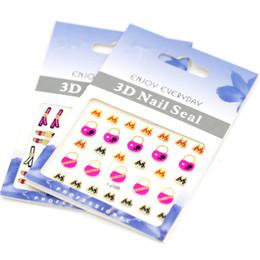 Nail Art Decal Decorations 3D Nail Stickers 30pcs lot New Flower Nail Decals Nail Art Sticker 105*67mm KJ