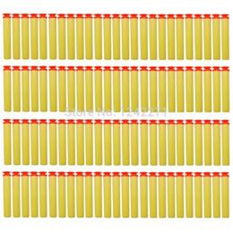 Juegos para niños en venta-100pcs balas suaves Pistola juguetes de piezas originales de disparo de bala de Seguridad del Agua Pistola Aire EVA Shooting parte pistola para niños juegos de regalo