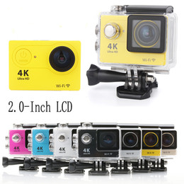 Wholesale Action camera EKEN H9 Ultra HD K WiFi P fps LCD D lens Helmet Cam underwater waterproof camera SJ style