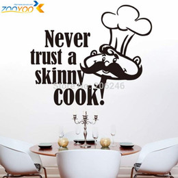 never trust a skinny cook art quote wall decal zooyoo8210 home decoration kitchen room removable diy vinyl wall stickers