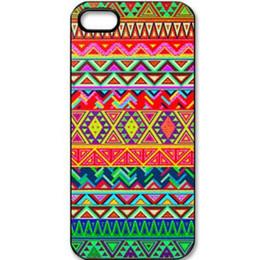 Wholesale Vintage Watercolor Aztec Tribal Hard Mobile Phone Case Cover For iPhone S S C Plus