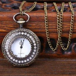 2015 de la manera hueco del bolsillo del bronce del bolsillo del fob de la manera la mejor calidad libre del collar 10Pcs / Lot libera la nave desde mejores relojes de moda de calidad fabricantes