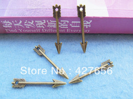 Delicated Cabinet Filigree Antique Bronze Arrow Pendant Charm Finding,One Direction Charms,DIY Accessory