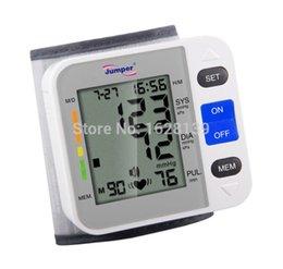 Wholesale ousehold Health Monitors Blood Pressure Medidor De Pressao Arterial Health Monitors Automatic Digital Wrist Omron Blood Pressure Cuff Met