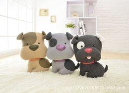 Свободный материал собаки для продажи-Плюшевые игрушки милый щенок Детские игрушки собаки куклы Чучела 3 цвета Смешанные Бесплатная доставка
