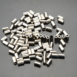 100pcs Cycle Metal Brake Cable Housing Ferrule End Crimp Bicycle Part Silver Metal Bike brake cable caps Free Shipping