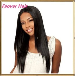 Free Shipping 1#,1b,2#,4#,Natural Color Indian Virgin Hair Silky Straight Front Lace wig Full Lace Wig 130% density with baby hair