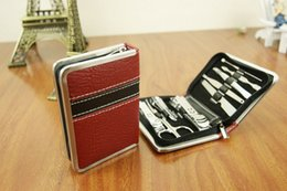Wholesale Manicure set nail care set all round nail scissors manicure tool manicure kit set Nail Art Salon Manicure Kits With Leather Case
