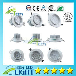 Wholesale CE RoHS Dimmable Led Ceiling Light W W W Led Retrofit Trim Resessed downlight spotlight Lamp V Led Down Lighting Driver