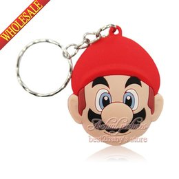 Wholesale Hot New Arrival Lovely Super Mario Bros Cartoon Keyrings Keychains Kawaii Keyfob Soft PVC Key Chains Cartoon Character Key Chains