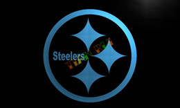 Wholesale LD055 Pittsburgh Steelers Bar Club Neon Light Sign hang sign home decor shop crafts led sign