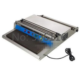Wholesale 17 quot mm Width Food Tray Wrapper Stretcher Film Wrap Sealer Sealing Wrapping Machine