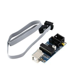 Wholesale New AVR USB Tiny ISP Programmer Module USB Download Interface Board with Pin Programming Cable For Arduino Brand New