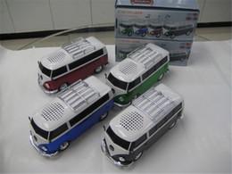 Wholesale Mini Bus Portable Speaker WS Stereo Speaker Car speaker Support TF Card USB MP3 Player For Smart Phone