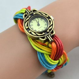 New Infinity Watch Retro Women Lady Wrap Charming Bracelets Watch Rainbow Color Band Mix Colors Free Drop Shipping