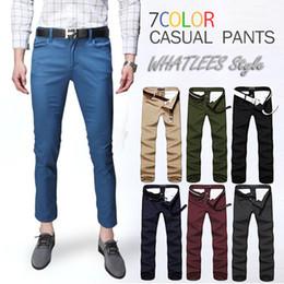 HOT 2016 Men's casual pants Korean Slim thin section feet pants tide male pantyhose male pants 9 pants tide male