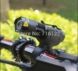 2000lm bike light CREE Q5 zoom flashlight mini torch LED Cycling Bike Bicycle Front Head Light With Mount + Rear 5 LED Light