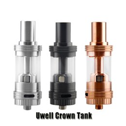 Wholesale 100 Original Uwell Crown Sub Ohm Tank ml Temperature Control Vaproizers Top Filling TC Atomizer for thread Box Mod
