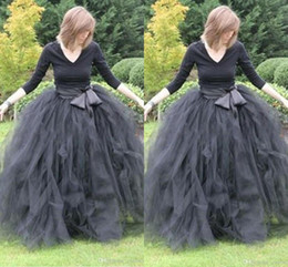 Best Selling Gray Puffy Voile Tulle Maxi Skits with Bow-knot Sash Ball Gown Ruffles Long Skirt Street Fashion Multiple Layers Casual Dress