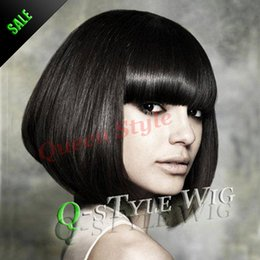 2015 New Arrival Asian Short black bob hairstyle wig, East Beauty wig Synthetic short American African wigs for white or black women