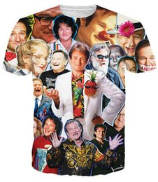 New fashion mens womens funny t-shirt 3D print Robin Williams Paparazzi short sleeve summer casual funny tops clothing tshirt