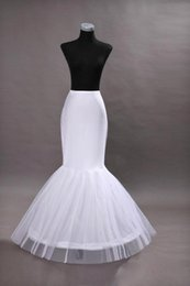 In Stock Cheap One Hoop Flounced Mermaid Petticoats Bridal Crinoline For Mermaid Wedding Prom Dresses Weddding Accessories CPA201