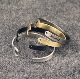 Wholesale 1000PCS HHA562 Vintage Stainless Steel Spanner Bracelet Men Antique Silver Gold Plated Wrench Bracelets Bangles motorcycle bracelet