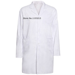 Wholesale Thickening standard doctor clothing long sleeve white nurse clothing physician services lab coat white coat