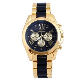 Wholesale Mens Quartz Full Steel Watch Luxury Mechanical Automatic Watches Casual Dress Ladies Wrist Watch Golden Dial Alloy Watch