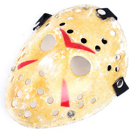Gold Vintage Party Masks Delicated Jason Voorhees Freddy Hockey Festival Halloween Masquerade Mask Free Shipping TY913