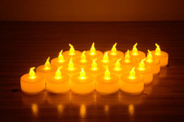 Wholesale Electric Amber Yellow Candle LED Tea Light Home Dinner Room Party Decor L023