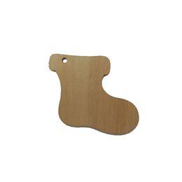 Wholesale Cute Sock Shape Wood Shapes XHWS005 Christmas Decorative Wood Tags Wooden Veneers Scrapbooking Embellishments DIY Craft