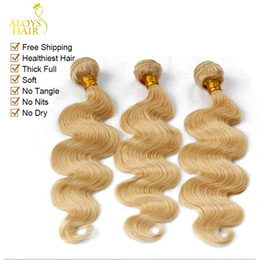 Platinum Blonde Indian Remy Hair Extensions Body Wave Wavy Color 613 Bleach Blonde Indian Virgin Human Hair Weave 3 4Pieces Lot Tangle Free