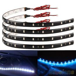 4Pcs 30cm 3528 SMD 15 LED Car Trucks Motor Grill Flexible Waterproof Light Strips 1S94