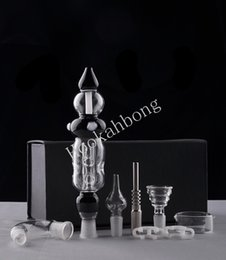 Wholesale 2016 Nectar Collector Set Updated Honey Straw Unit Glass Dish Quartz Nail Titanium Nail Glass Bong