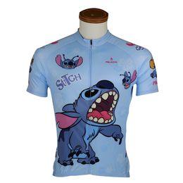 Wholesale-Cartoon Stitch cycling jersey 2015 Mountain Bike MTB Clothing bicycle jersey for men Jacket road bike jersey Sportswear B2054DXM