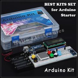 Wholesale BEST Arduino MATCH UNO R3 Starter KIT Arduino Starter Kit RFID Microcontroller Starter Kit Step Motor Servo LCD Breadboard Jumper Wire