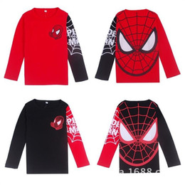 Children's clothing wholesale Spiderman style casual long-sleeved T-shirt bottoming shirt boys and girls TZ007