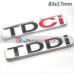 Wholesale 100pcs D Aluminum TDCI TDCI Badges Emblem Car Boot Sticker x17mm