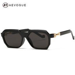 Gafas de diseño fresco en venta-AEVOGUE más nuevo Marco rectangular Gafas vintage Sun Glasses gafas de sol frescas diseñador de las mujeres Marca Gafas de Sol UV400 AE0265