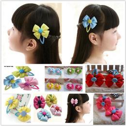 Baby Girl Grosgrain Ribbon Hair Bows Children Hair Accessories Baby Hairbows Girl Hair bows with clips barrettes free shipping 0073HW
