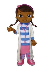 Wholesale Dottie McStuffins Doc McStuffins Mascot Costume Adult Size Classic Party Costumes Fancy Dress Suit