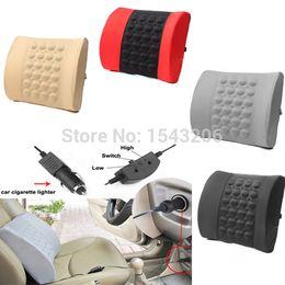 Oreillers de soutien lombaire à vendre-Car Retour lombaire posture de soutien massage électrique Coussin Oreiller 12V Comfort petite commande pas de suivi
