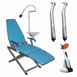 Wholesale Portable Folding Dental Chair Unit GM C004 Curing Light Two Dental Handpiece GM C004 PCSM4