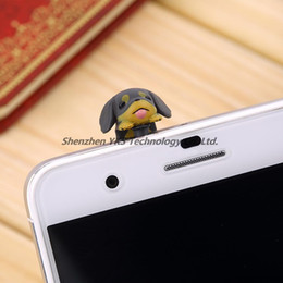 Wholesale mm Dachshund Puppy Dog Dust Plug Cellphone earphone Jack Plug Ear Cap low price