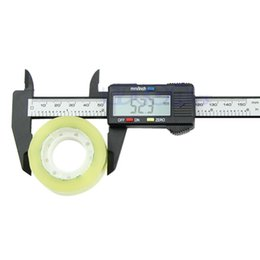 Wholesale New mm inch LCD Digital Electronic Carbon Fiber Vernier Caliper Gauge Micrometer