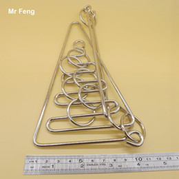 Especially Big Educational Intelligence Toys Game Curve Metal Ring Wire Puzzle Solution