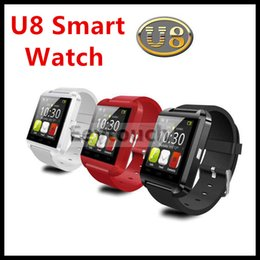 Wholesale 20P U8 U Watch With sleep monitor pedometer stopwatch Bluetooth Smart Watch Wrist Watch For iPhone Samsung HTC Android Smartphones