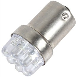 Wholesale BA15S V W White Light LED Car Turn lamp Signal Tail Brake Bulb CLT_022